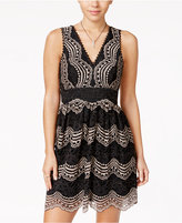 Trixxi Juniors' Lace V-Back A-Line Dress