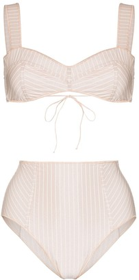 Oseree Striped Bikini Set
