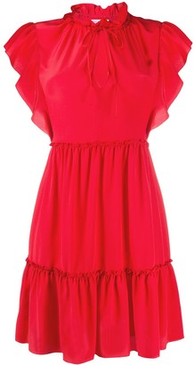 RED Valentino Frilled Sleeves Mini Dress