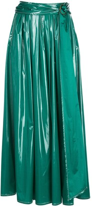 Sies Marjan belted long A-line skirt