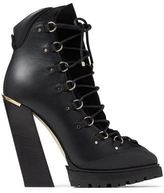 Jimmy Choo Madyn 130 Leather Boots
