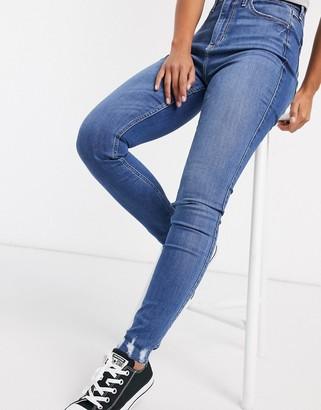 Hollister distressed jeans in medium blue