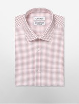 Calvin Klein Steel Regular Fit Non-Iron Plaid Dress Shirt