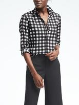 Banana Republic Easy Care Dillon-Fit Gingham Blouse