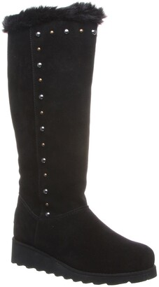 BearPaw Dorothy Stud Faux Fur Suede Tall Boot