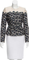 Tory Burch Floral Wool & Silk Blend Jacket w/ Tags
