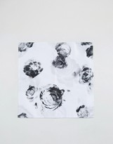 Asos Pocket Square With Black And White Design