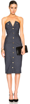 Cushnie et Ochs Stretch Denim Strapless Dress