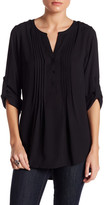 Daniel Rainn Button Up Pleated Front Blouse
