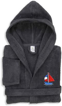 Asstd National Brand Linum Kids 100% Turkish Cotton Hooded Terry Bathrobe - Boat