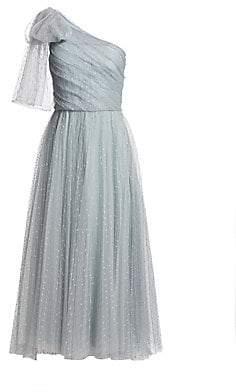 915d6eb90cf4 RED Valentino Women's Pleated Tulle Polka-Dot Midi Dress