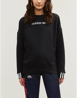 adidas Coeeze logo-embroidered cotton-jersey sweatshirt