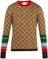 Gucci GG-jacquard crew-neck wool sweater