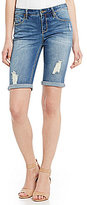 Miraclebody Jeans Faith Destruction Detail Bermuda Shorts