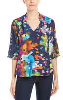 Amanda Uprichard Staci Printed Silk Top