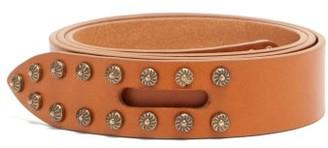 Isabel Marant Lelo Studded Leather Belt - Tan