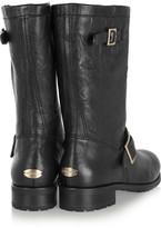 Jimmy Choo Leather Biker Boots - Black