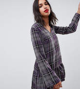 Reclaimed Vintage Inspired Check Smock Mini Dress