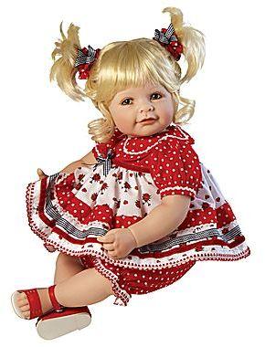 "JCPenney Adora 20"" Baby Doll Ladybug Blonde/Green Eyes"