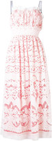 Just Cavalli sheer layered midi dress - women - Cotton/Polyester/Viscose - 38