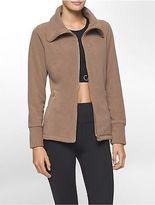 Calvin Klein Womens Performance High Collar Fleece Jacket