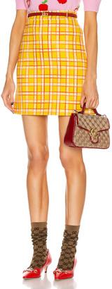 Gucci Tweed Mini Skirt in Yellow | FWRD