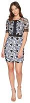 Romeo & Juliet Couture Contrast Lace Short Sleeve Dress