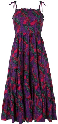 Ulla Johnson Geometric Flared Midi Dress