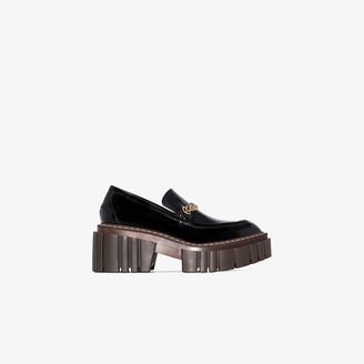 Stella McCartney Black 40 patent platform loafers