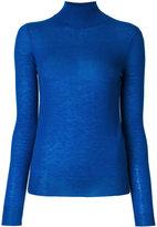 Joseph roll neck fine knit jumper