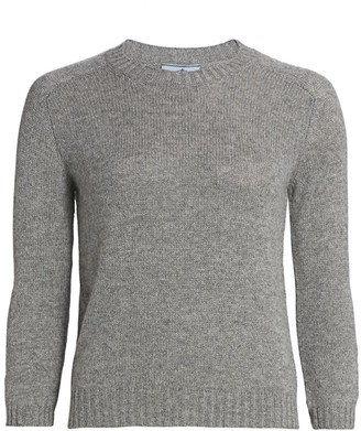 Prada Elbow Patch Cashmere Sweater