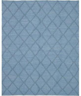 "Bungalow Rose Maui Braided Handmade Sky Blue Area Rug Rug Size: 9'2"" x 12'1"""