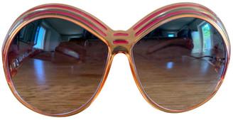 Christian Dior Orange Plastic Sunglasses