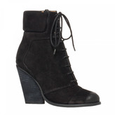 Max Studio Remix Distressed Suede Lace Up Booties