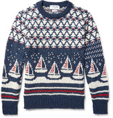 Thom Browne - Jacquard-knit Wool And Mohair-blend Sweater
