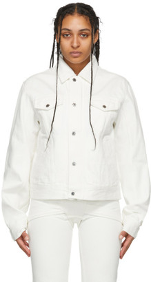 GmbH White Denim Can Jacket