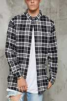 Forever 21 Plaid Flannel Slim-Fit Shirt