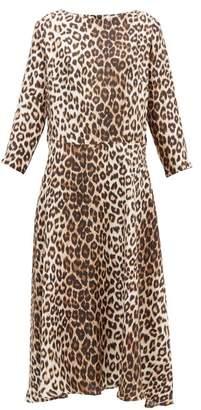 La Prestic Ouiston Despres Leopard Print Silk Satin Dress - Womens - Animal