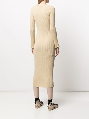 M Missoni Ribbed-Knit Midi Dress