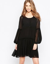 Minimum Moves Pleated Skirt Smock Dress