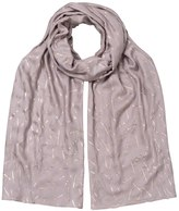 Oliver Bonas Mixed Line Foil Scarf