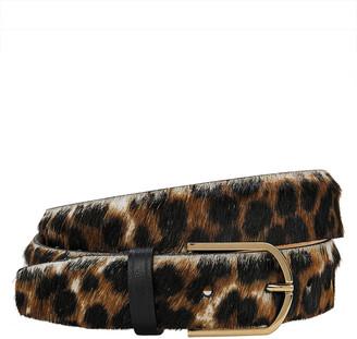 MAISON BOINET Leopard Calf Hair Belt