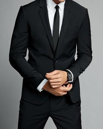 Express Extra Slim Black Performance Stretch Wool-Blend Suit Jacket
