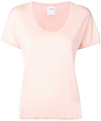 Barrie Cashmere Distressed Trim Top