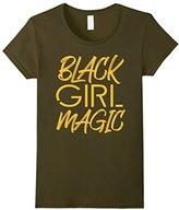 Kids Girl Magic Melanin Gold Gift T-Shirt 12