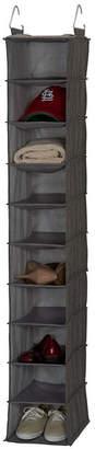 Household Essentials Gray Linen 10-Shelf Hanging Shoe Organizer