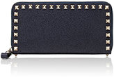 Valentino Women's Rockstud Zip-Around Wallet-BLUE
