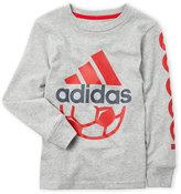 adidas Boys 4-7) Long Sleeve Sport Ball Tee