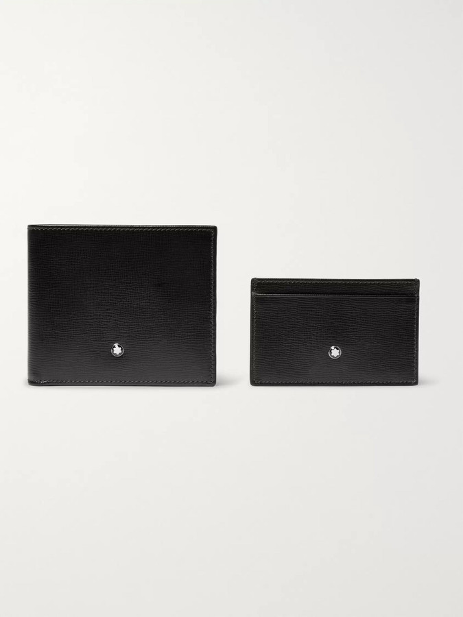 Montblanc Cross-Grain Leather Billfold Wallet And Cardholder Gift Set