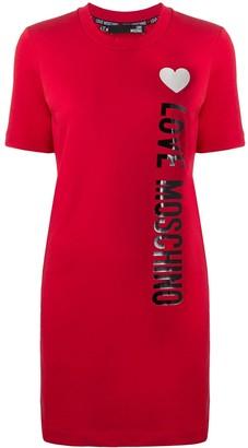 Love Moschino side logo T-shirt dress